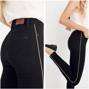 "Madewell 10"" high riser skinny black jeans 28"